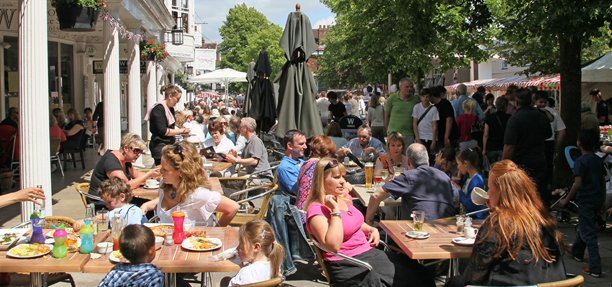 Pubs, Cafes and Restuarants on The Pantiles, Tunbridge Wells