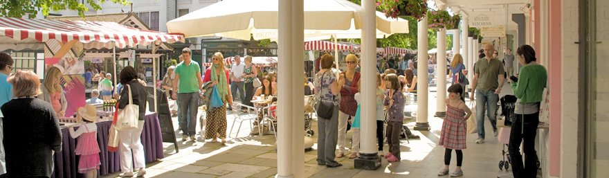 Food and Farmers Markets on The Pantiles, Tunbridge Wells